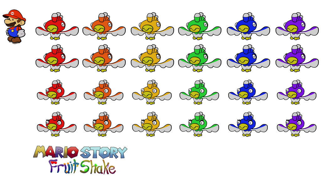 Jibberjays (Mario Story Fruit Shake) by DerekminyA