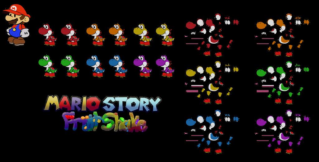 Yoshi Kids (Mario Story Fruit Shake) by DerekminyA