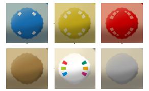 Fruit Cap types (Mario Story Fruit Shake) by DerekminyA