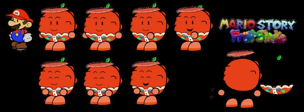 Cartone (Paper Mario Fruit Shake) by DerekminyA