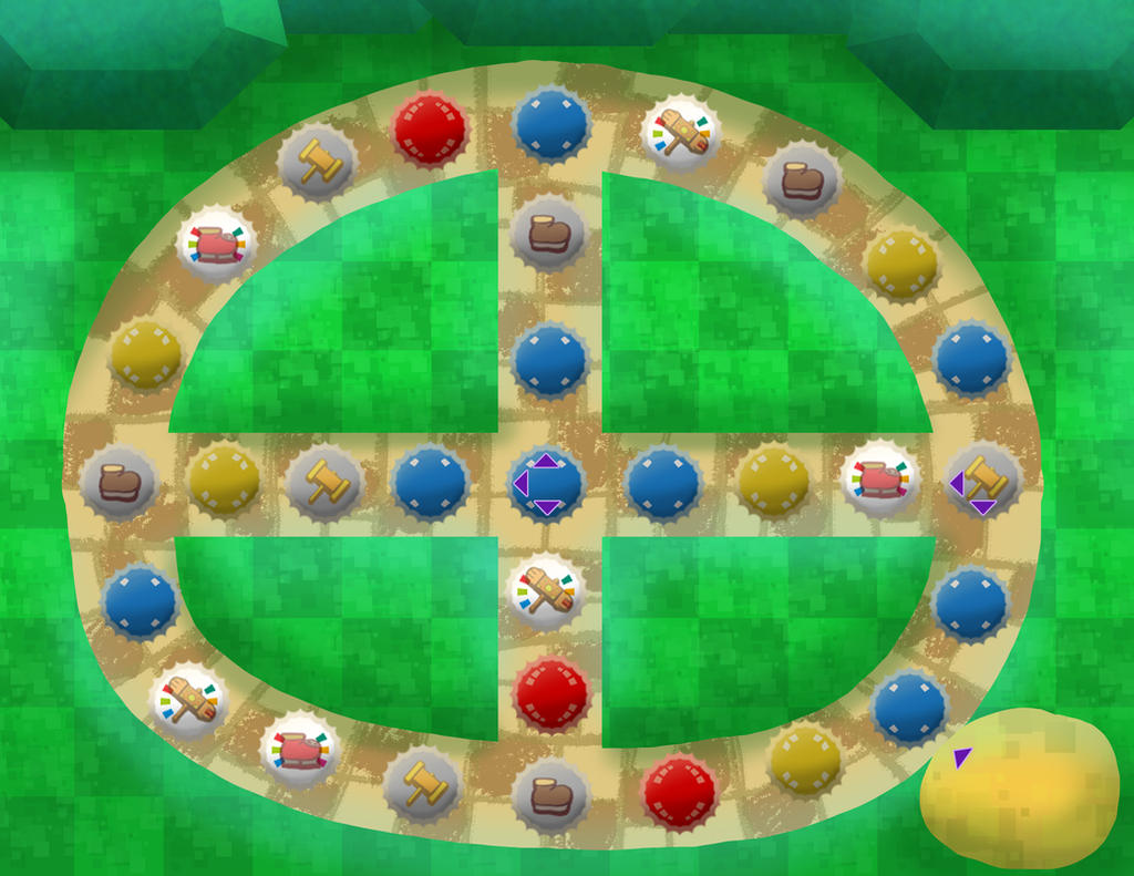 Pleasant Path (Paper Mario) game board by DerekminyA