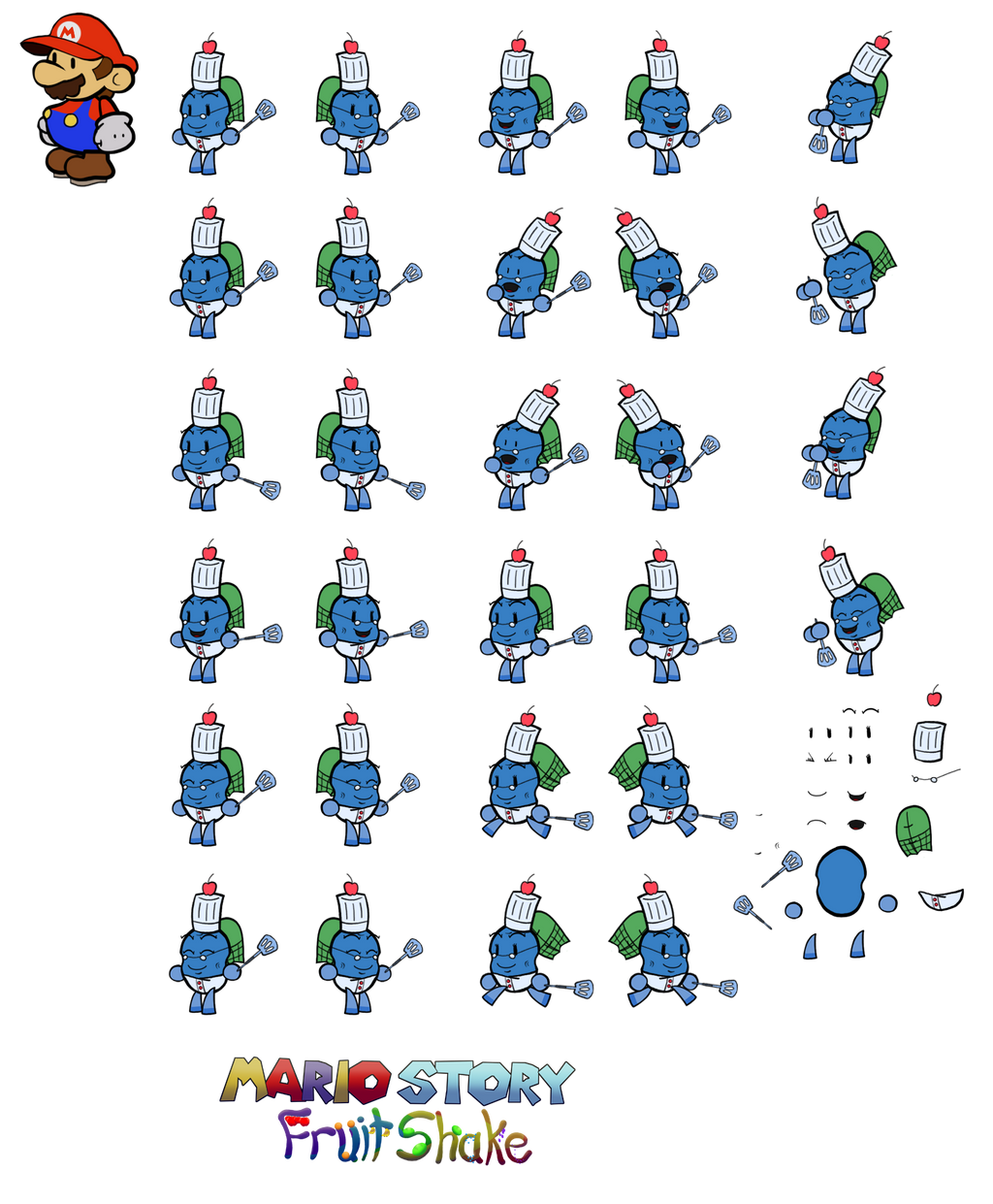 Granny Chicco (Mario Story Fruit Shake) by DerekminyA