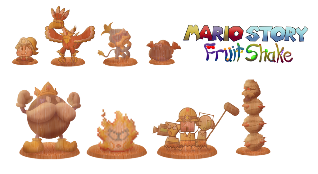Totems (Mario Story Fruit Shake) by DerekminyA
