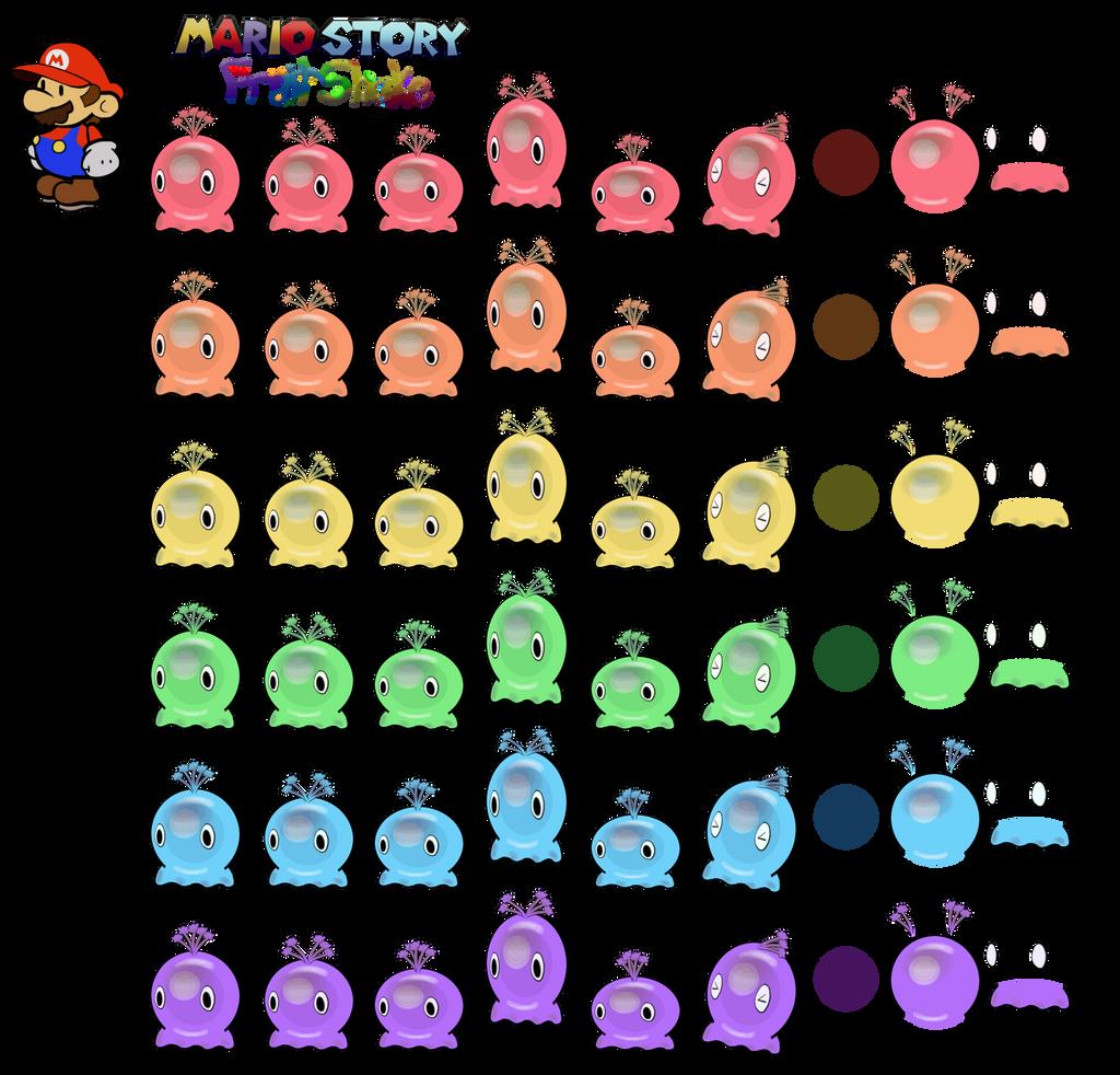 Gooble (Mario Story Fruit Shake) by DerekminyA