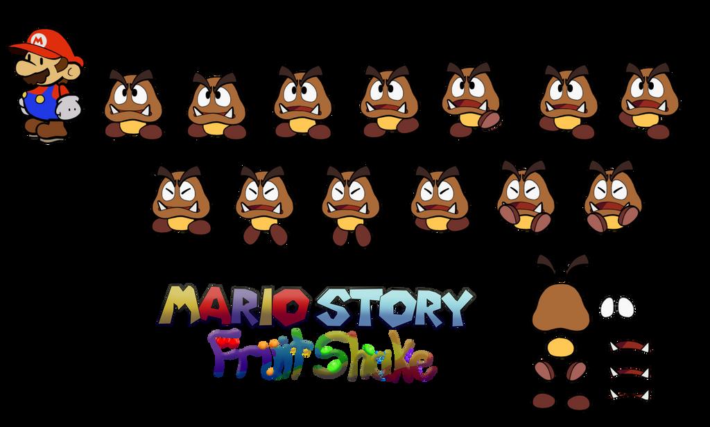Goomba (Mario Story Fruit Shake) by DerekminyA