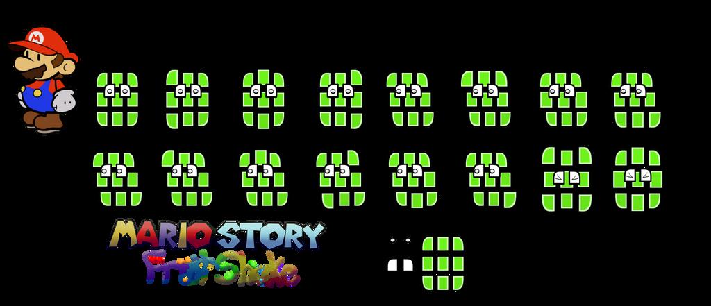 G Tileoid (Mario Story Fruit Shake) by DerekminyA