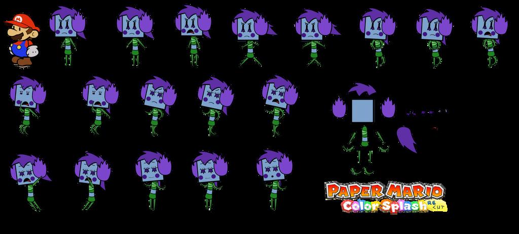 Suebelle redesign (Paper Mario Color Splash Recut) by DerekminyA