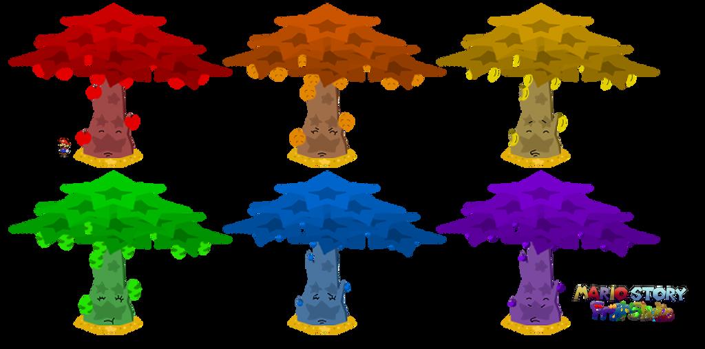 Great Fruit Trees (Mario Story Fruit Shake) by DerekminyA