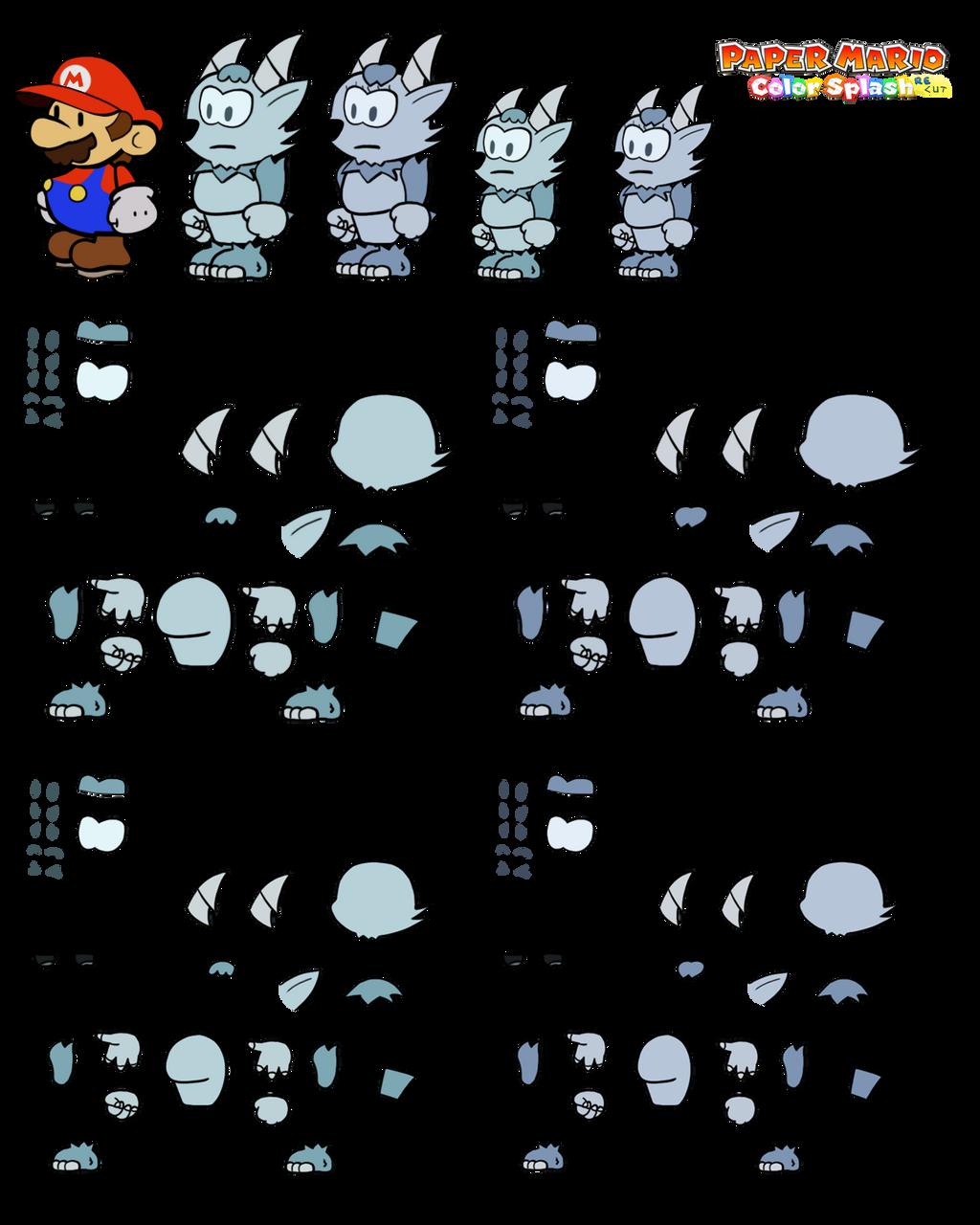Vellbex v2 (Paper Mario Color Splash Recut) by DerekminyA