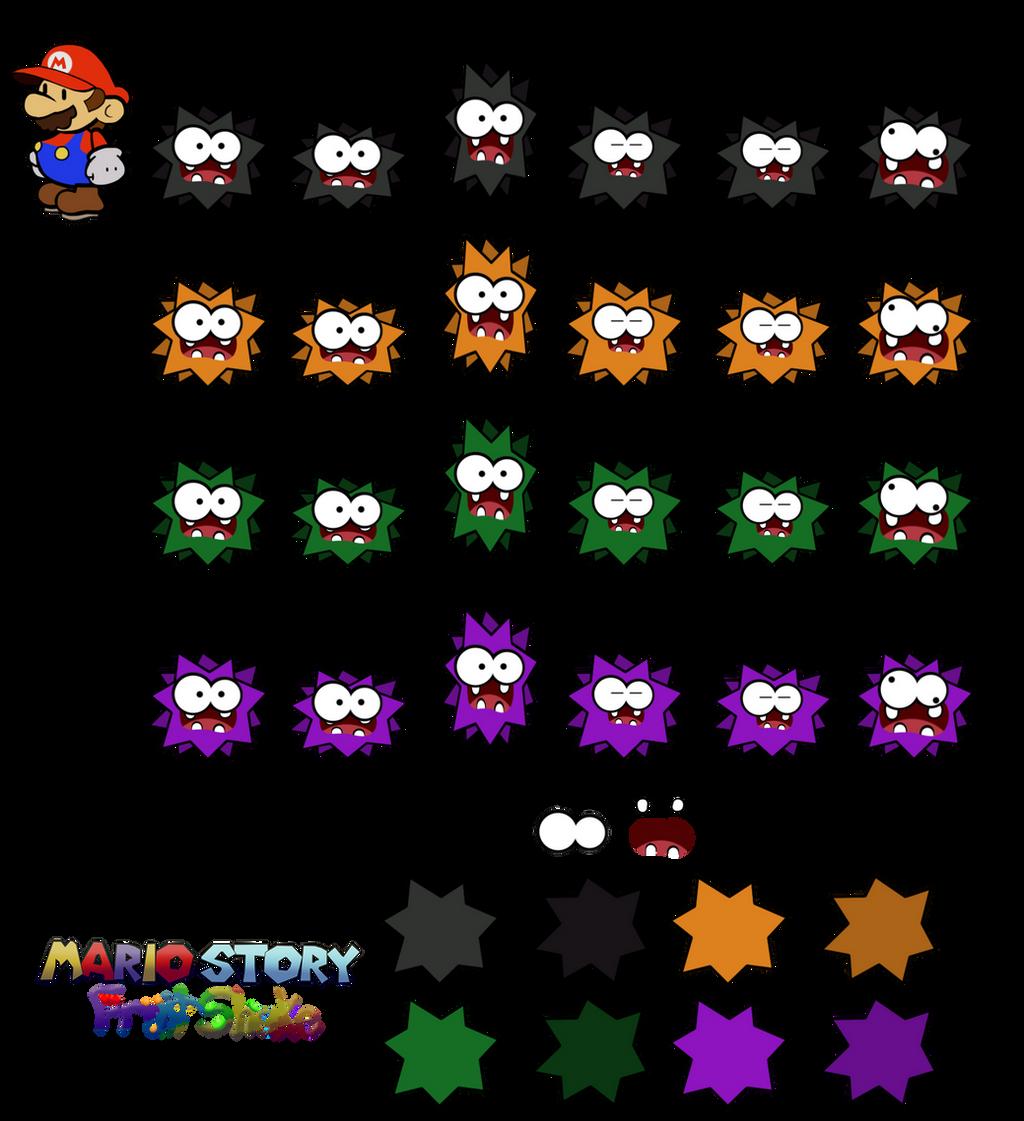 Fuzzies (Mario Story Fruit Shake) by DerekminyA