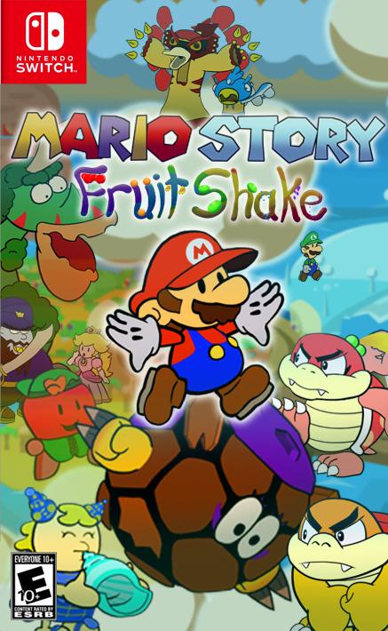 Mario Story Fruit Shake box art by DerekminyA