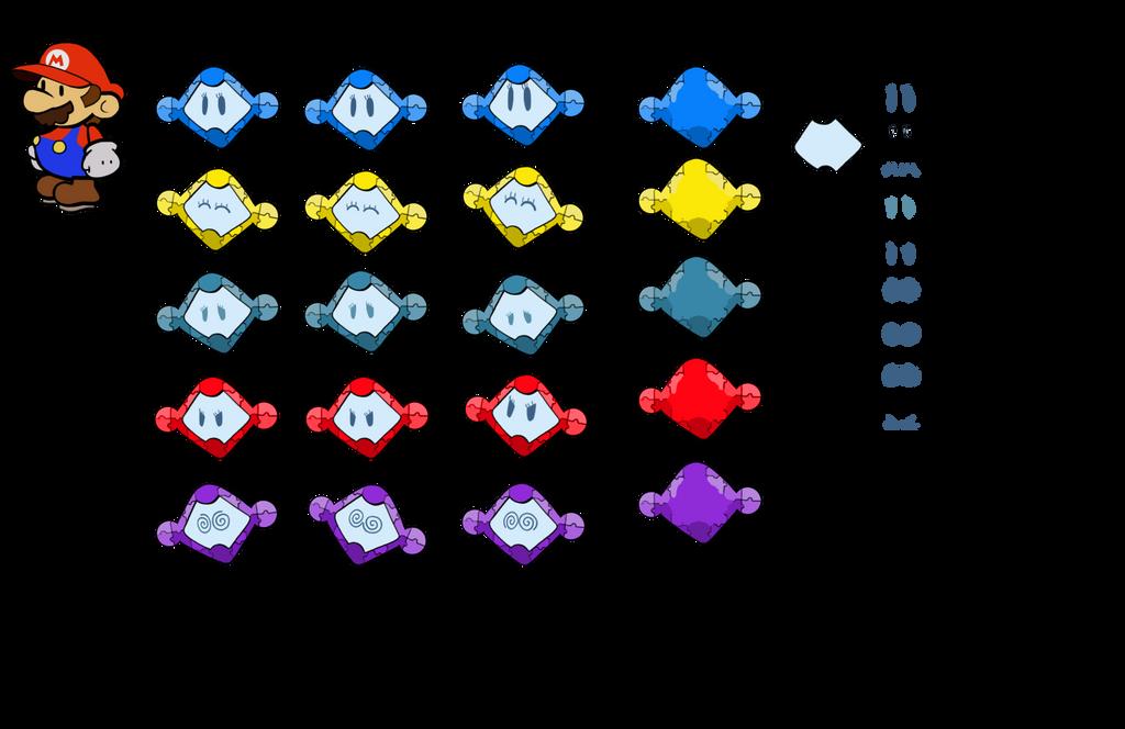 Tivatty (Paper Mario eighth gen style partner) by DerekminyA