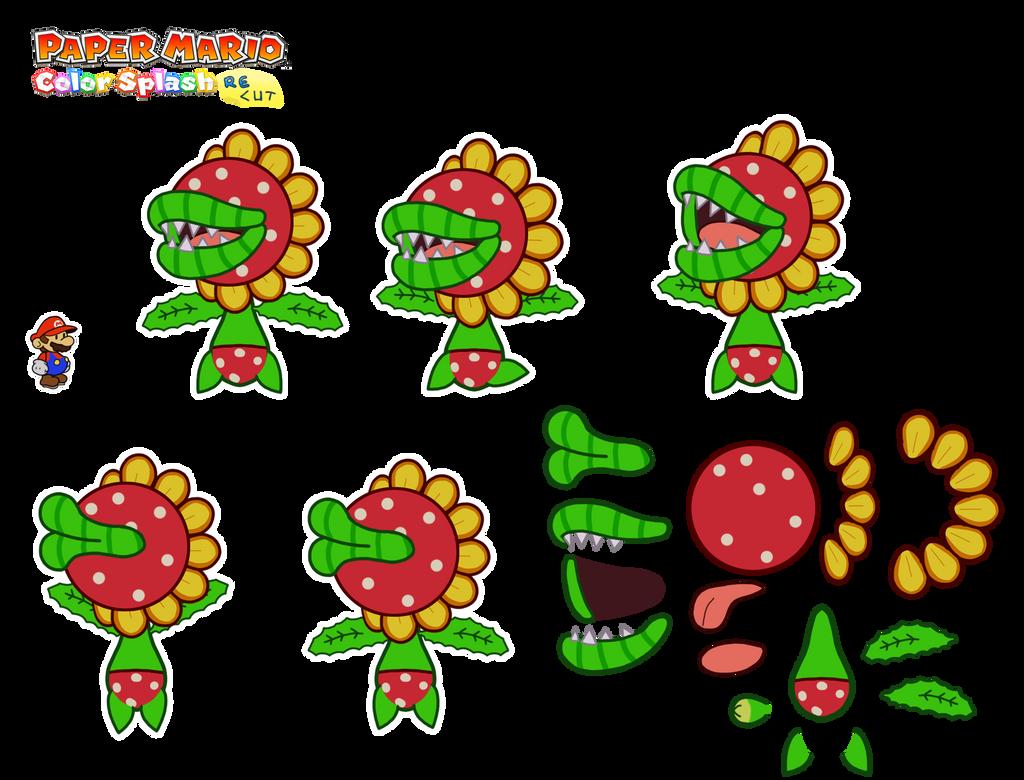 Petey Piranha (unused Paper Mario version) by DerekminyA