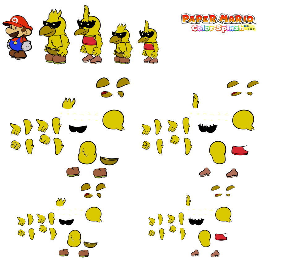 Memphawks v2 (Paper Mario Color Splash Recut) by DerekminyA