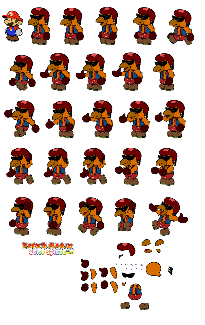 Louis v2 (Paper Mario Color Splash Recut) by DerekminyA