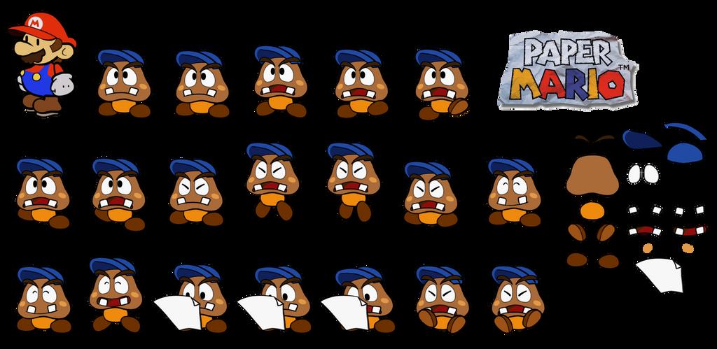 Goombario (Paper Mario 64) by DerekminyA