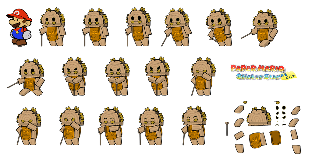 Tieko (Paper Mario Sticker Star Recut) by DerekminyA