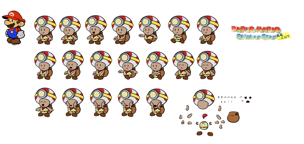 Captain Toad (Paper Mario Sticker Star Recut) by DerekminyA