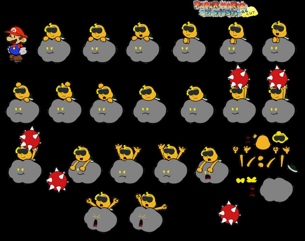 Lakithunder (Paper Mario Sticker Star Recut) by DerekminyA
