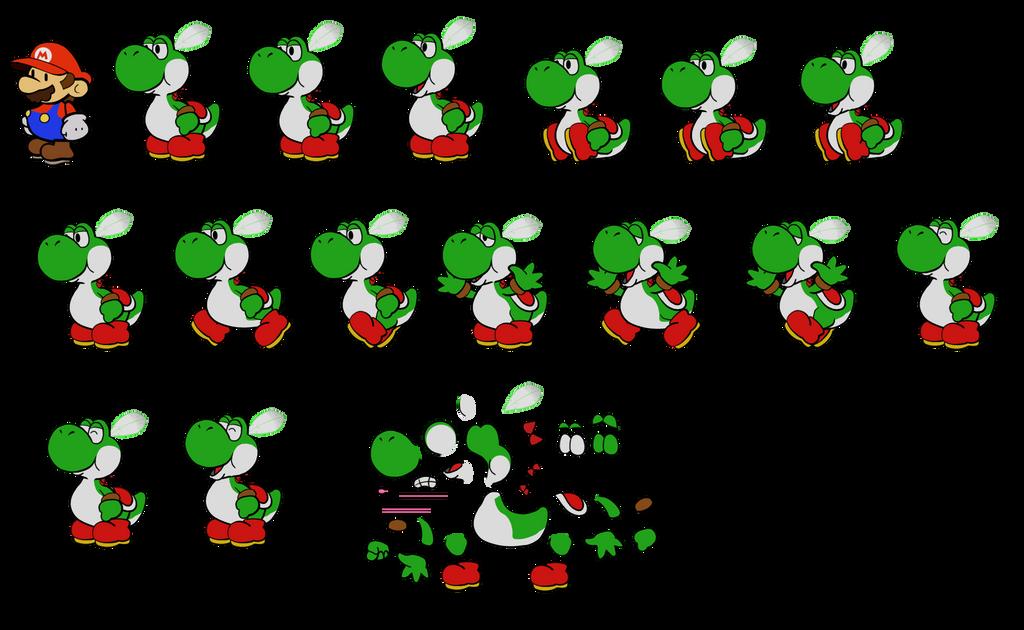 Yoshi Chief (Paper Mario 64) by DerekminyA