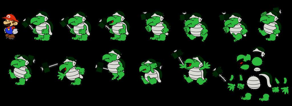 Sledge Bro (Paper Mario) by DerekminyA