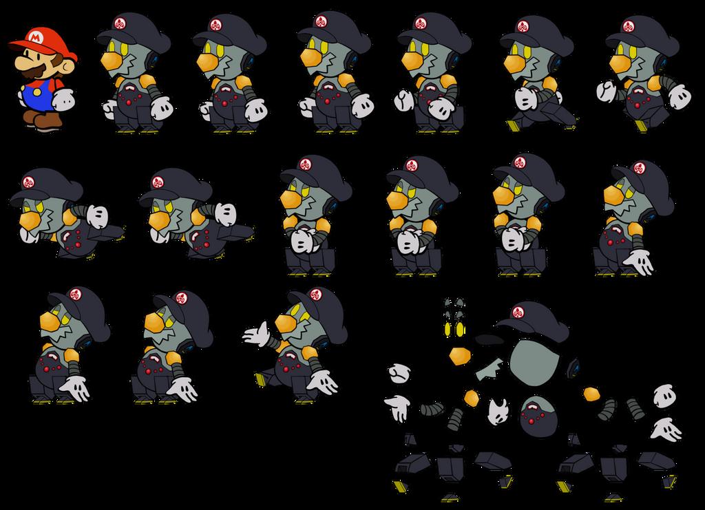 Robo Mario (Paper Mario) by DerekminyA