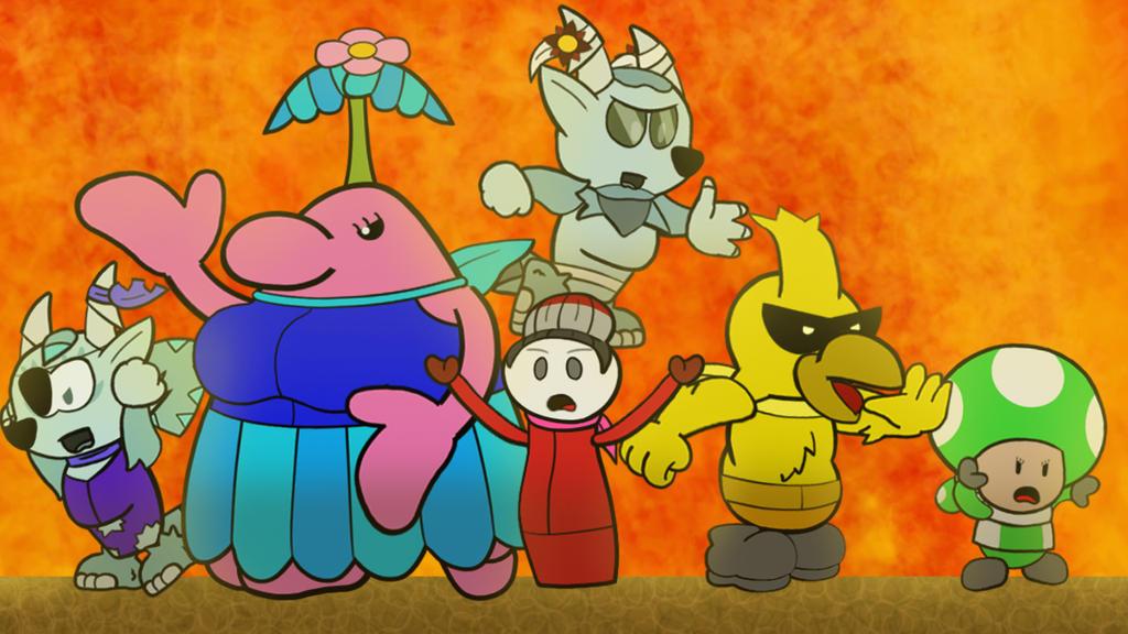 Rescue Squad/ V (Paper Mario Color Splash Recut) by DerekminyA