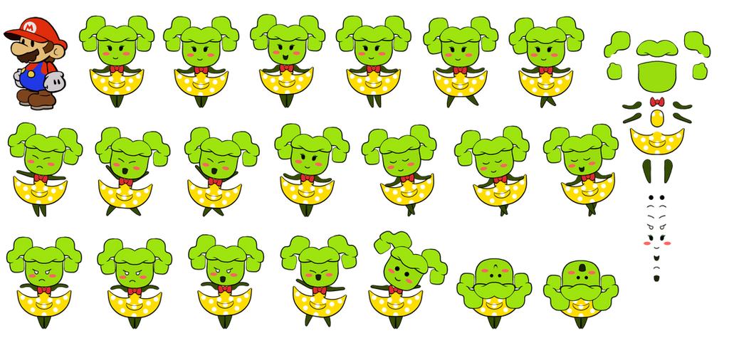 Mimi v2 (Super Paper Mario) by DerekminyA