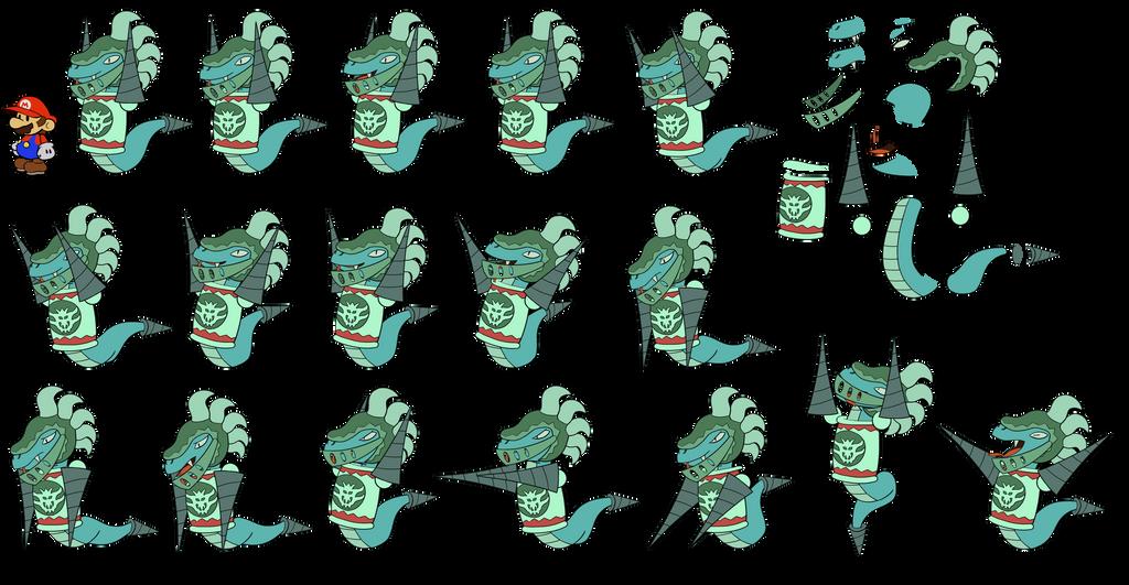 Sir Mordrat v2 (Paper Mario Wonder Journey) by DerekminyA