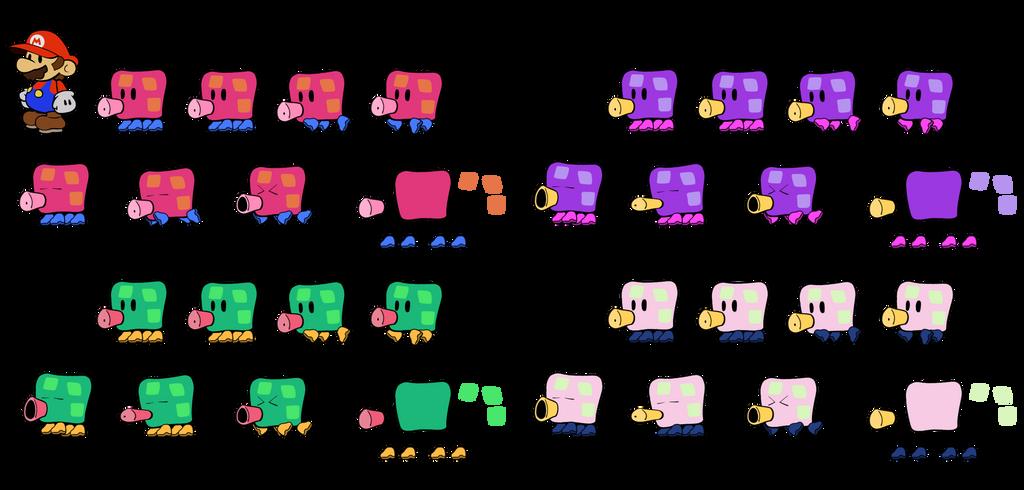 Squigs v2 (Super Paper Mario) by DerekminyA