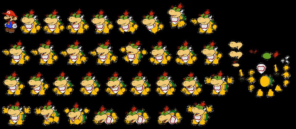 Bowser Jr (Paper Mario) by DerekminyA
