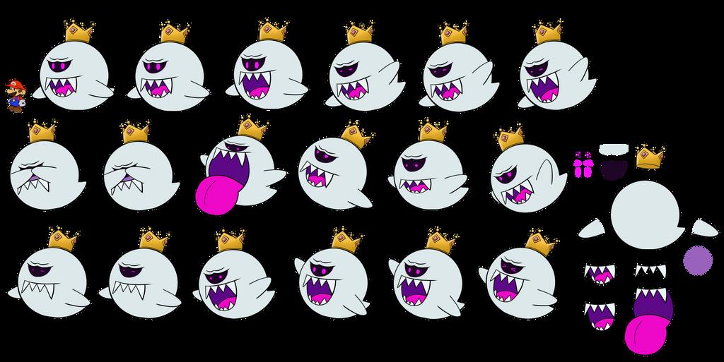 King Boo (Paper Mario) by DerekminyA
