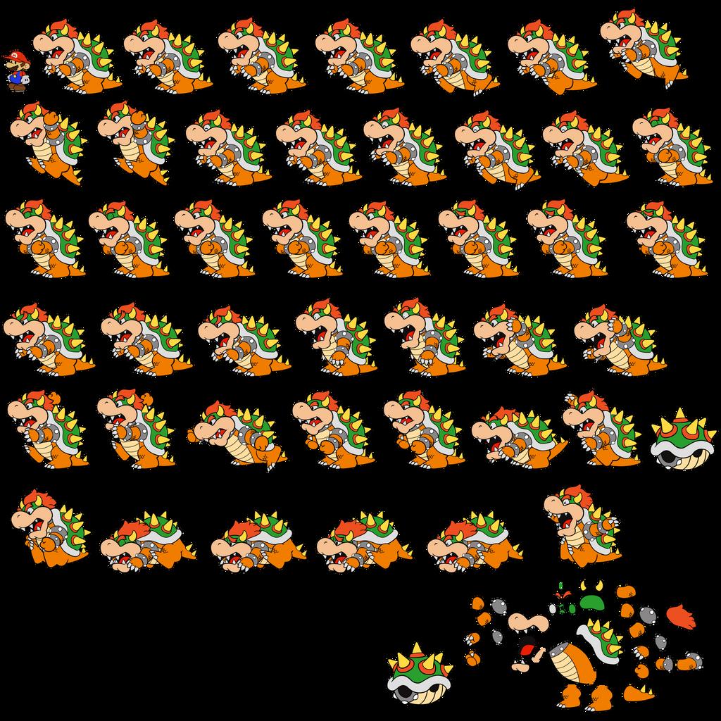Bowser (Paper Mario Color Splash Style) by DerekminyA