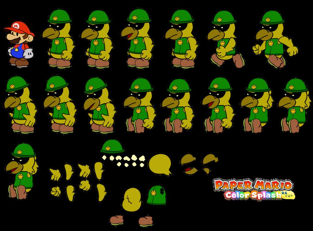Ferress v2 (Paper Mario Color Splash Recut) by DerekminyA