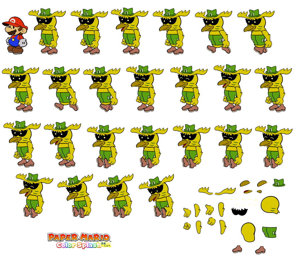 Fribyrd v2 (Paper Mario Color Splash Recut) by DerekminyA