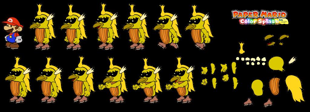 Mawk Hawk v2 (Paper Mario Color Splash Recut) by DerekminyA