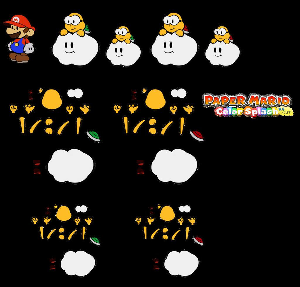 Lakitu NPCs (Paper Mario) by DerekminyA