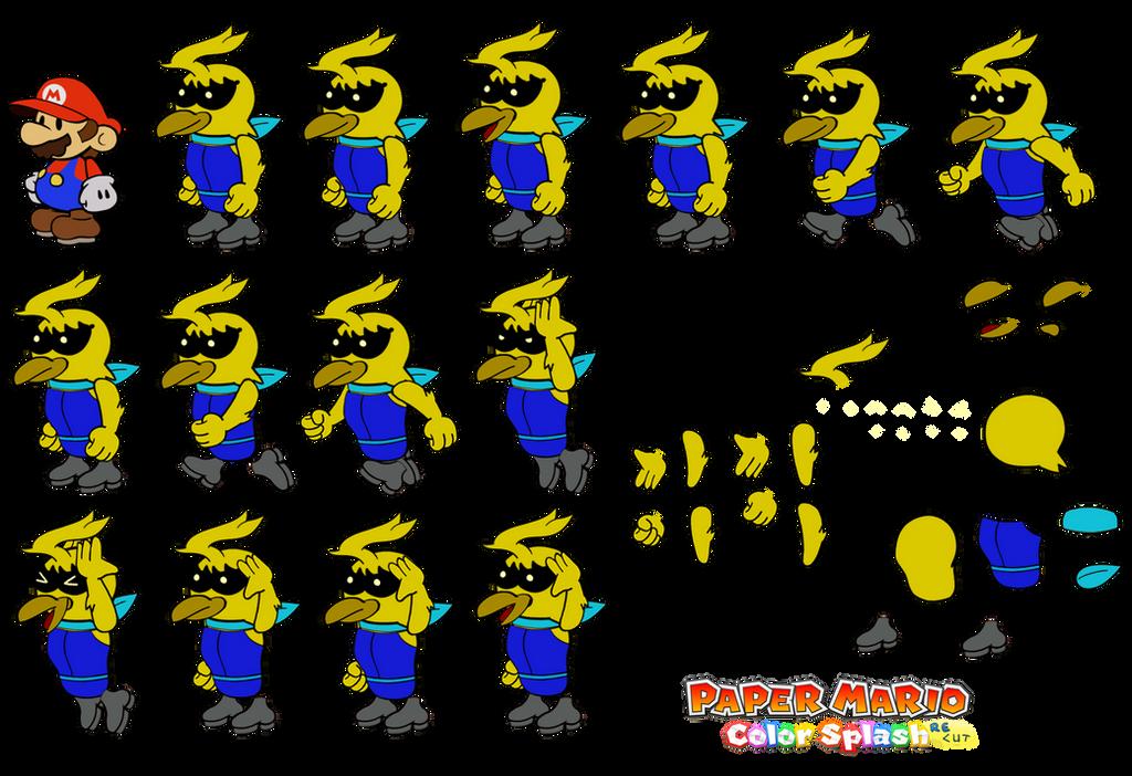 Wrodes v2 (Paper Mario Color Splash Recut) by DerekminyA