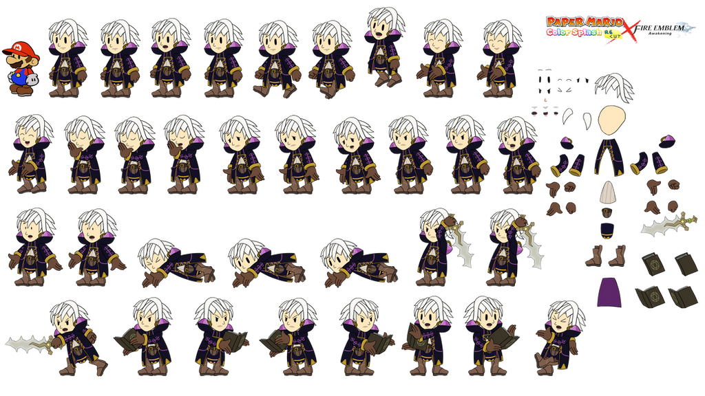Robin MALE (Paper Mario Color Splash Recut x FE) by DerekminyA