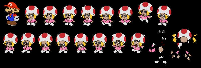 Zip Toad (Paper Mario Style)