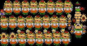 Bowser and Clown Car (Paper Mario 64)
