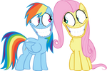 Rainbow Dash and Fluttershy: Creepy Faces