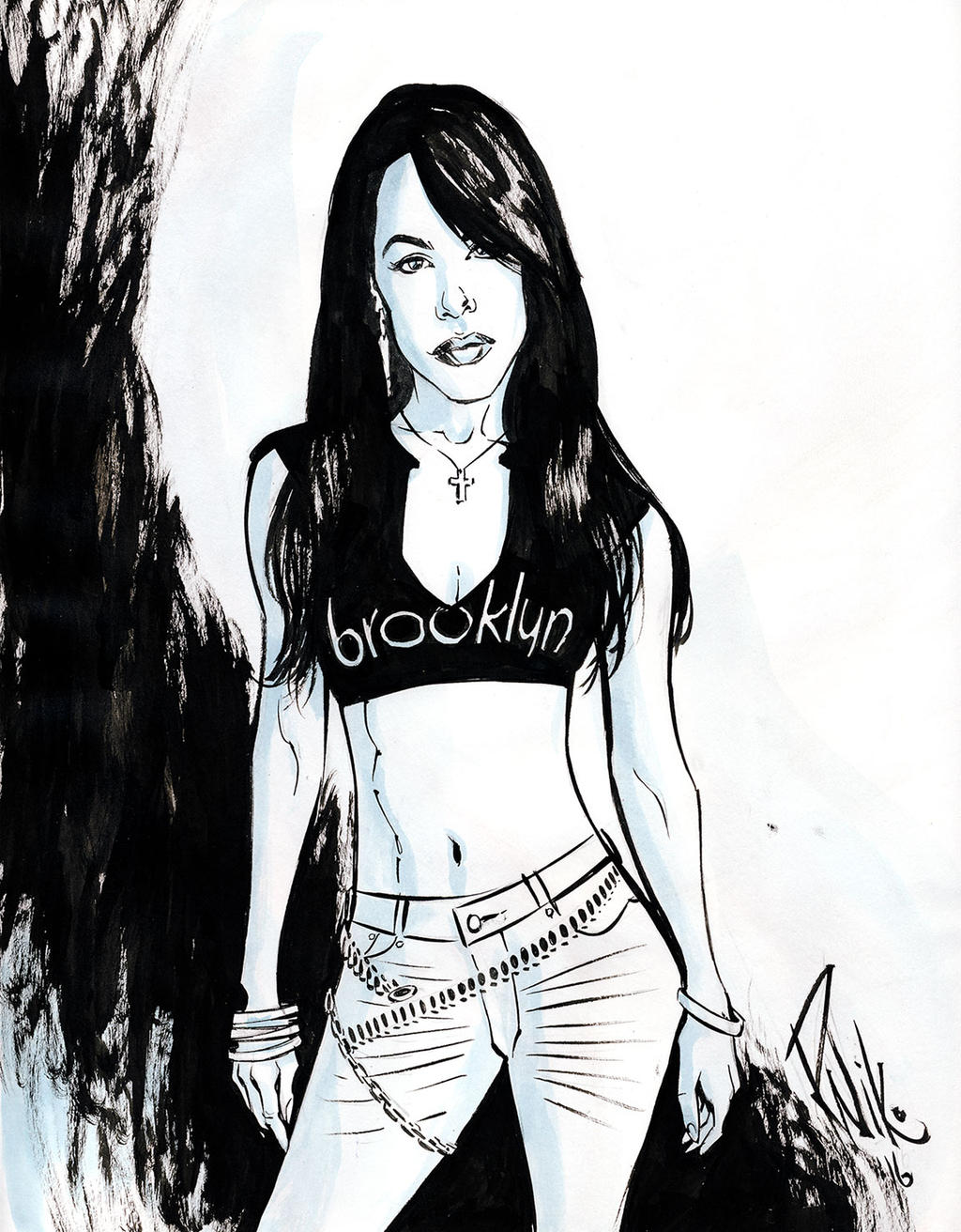 Aaliyah for Kickstarter Backer by RobNiko