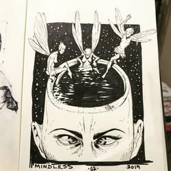 Inktober Day 2 - Mindless