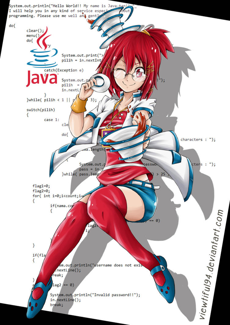 gijinka java programming language java tan by viewtiful on gijinka java programming language java tan by viewtiful94