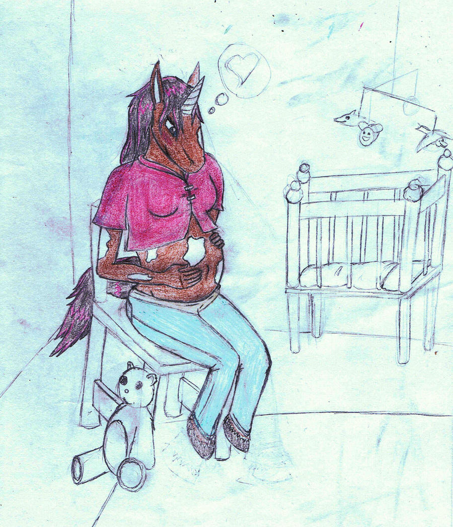 OLD ART, Pregnant Mare Unicorn by Barn-flakes