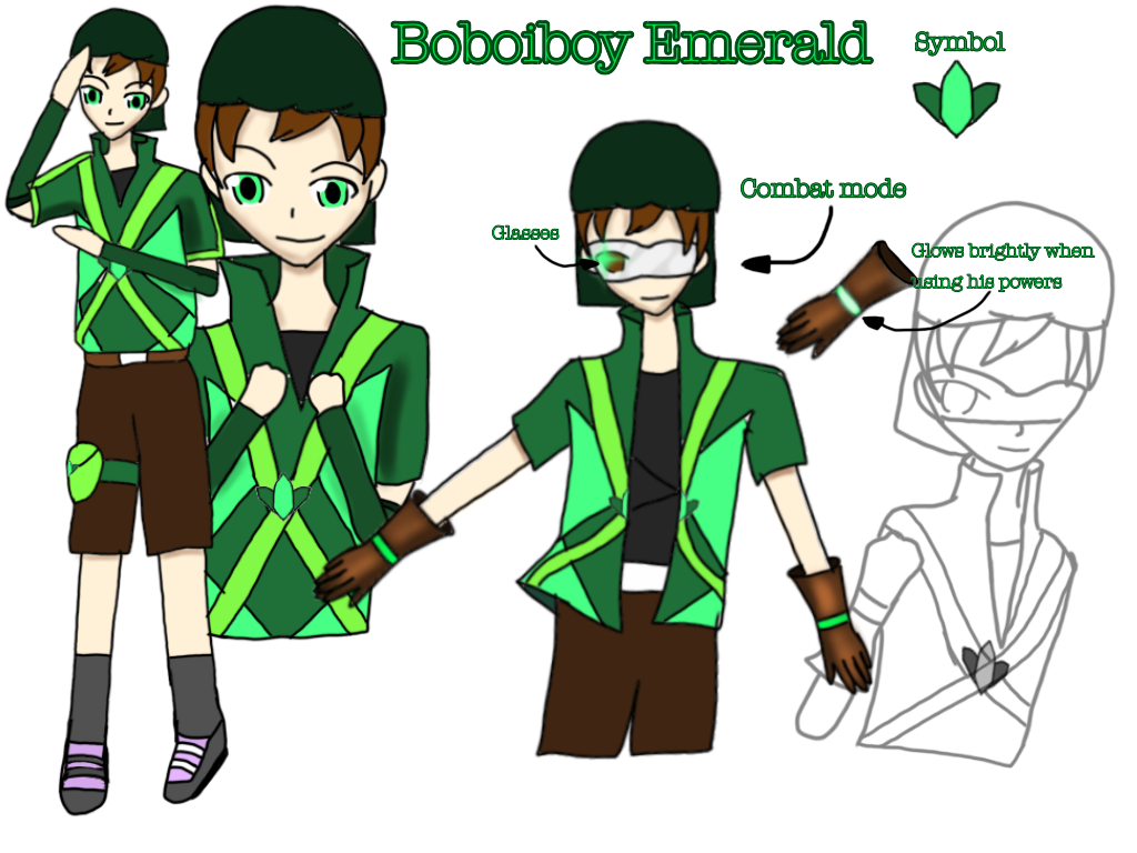 Boboiboy emerald by Manahan-Aundrey