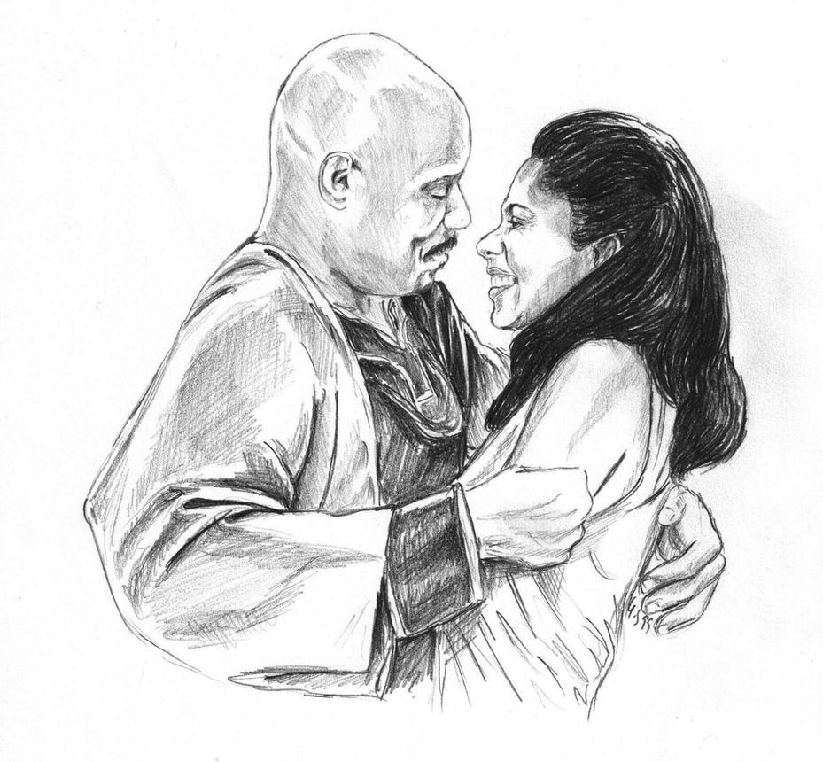 Benjamin Sisko and Kasidy Yates by Dahkur