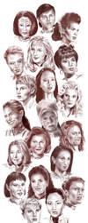 Sketches - Women of Star Trek by Dahkur