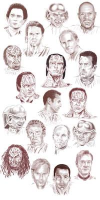 Sketchdump - the men of DS9